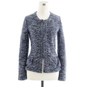 J. Crew Boucle tweed peplum jacket blazer